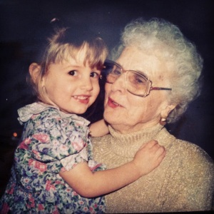 My favorite picture of Magie and me: at her 80th birthday party, April 1997.