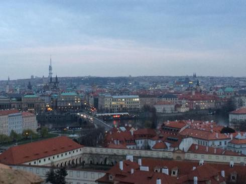 At least I caught this great view from Prague Castle.