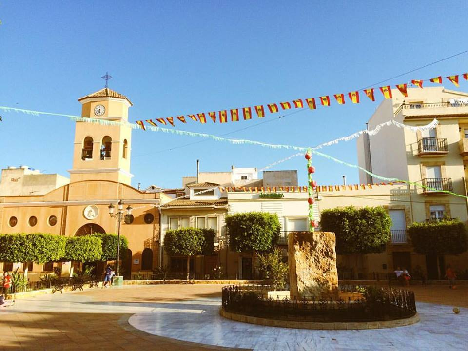 Plaza de San Francisco in Albox, Spain, where I lived while working as a language assistant.