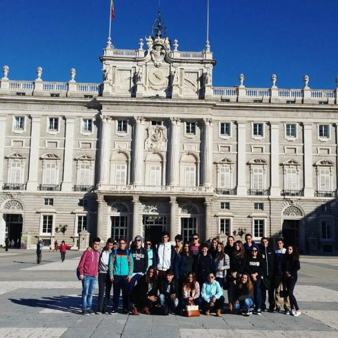 My time as a language assistant in Spain allowed me to travel to Madrid with my students. Here we are at the Royal Palace.