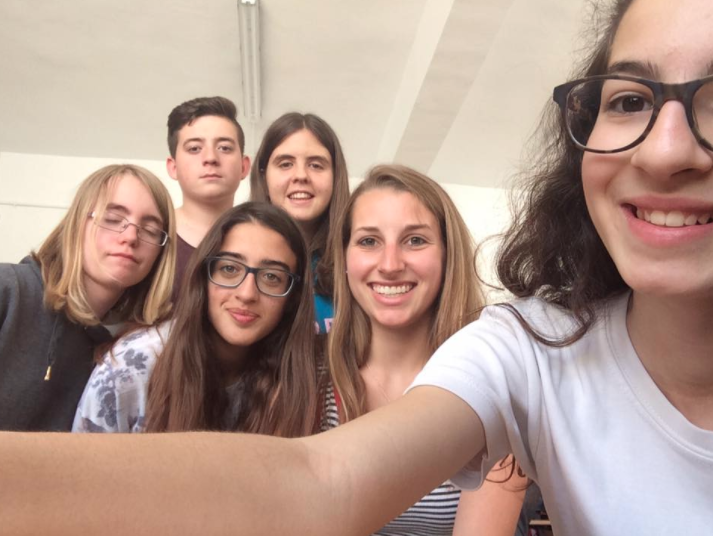 Selfie with some of my students in Spain