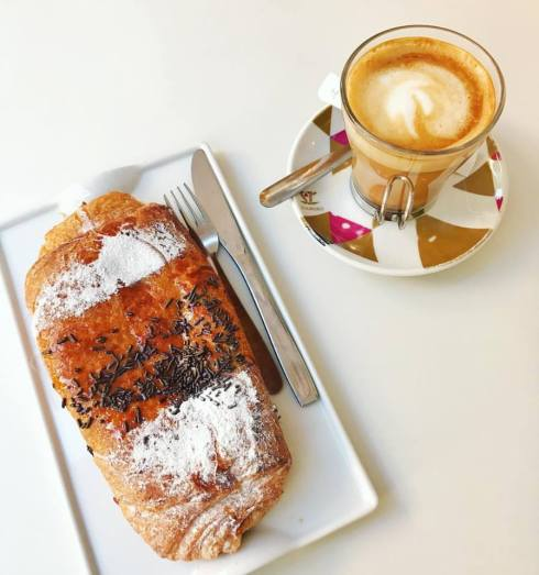 coffee and pastry - eating in Cordoba, Spain