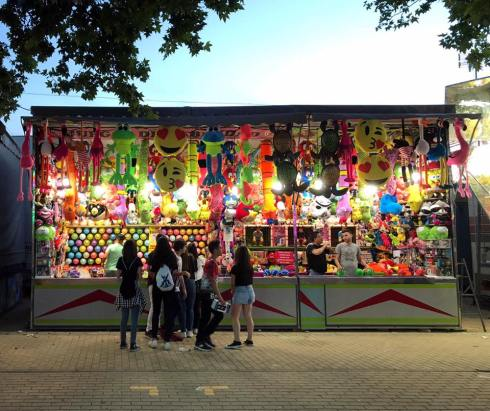 carnival games at the fair - spring festivals in Cordoba, Spain