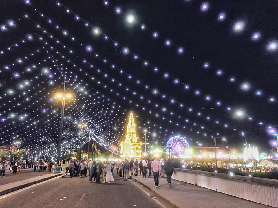 lights at the fair - spring festivals in Cordoba, Spain