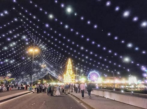 lights at the fair - spring festivals in Cordoba, Spain