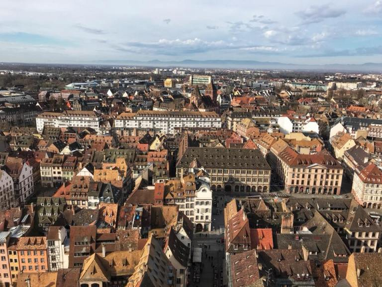 strasbourg cathedral tower views