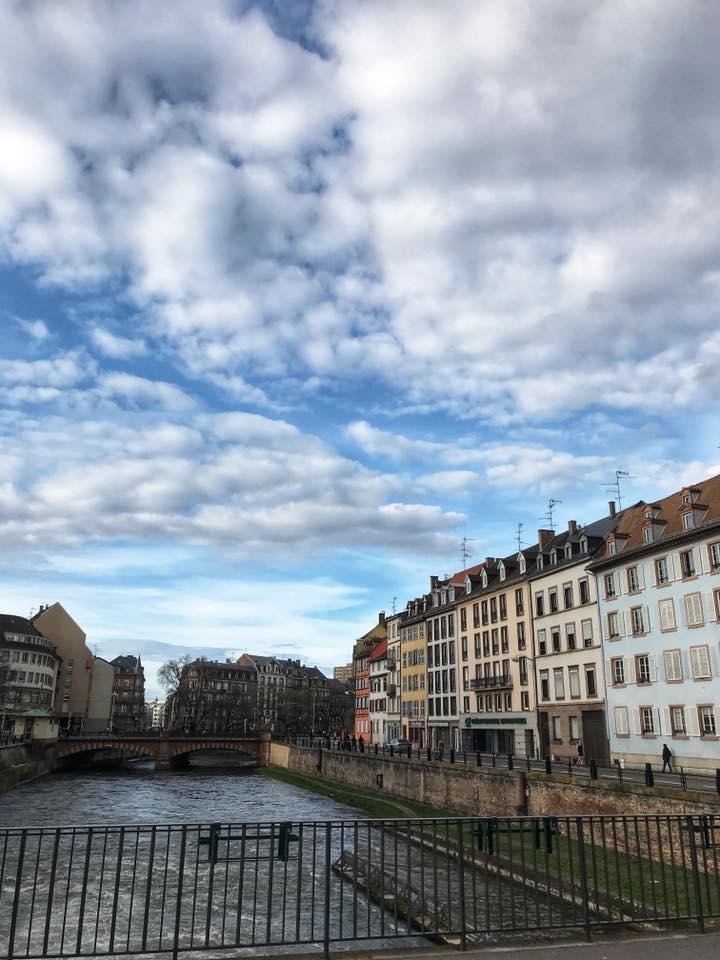 Strasbourg houses on river
