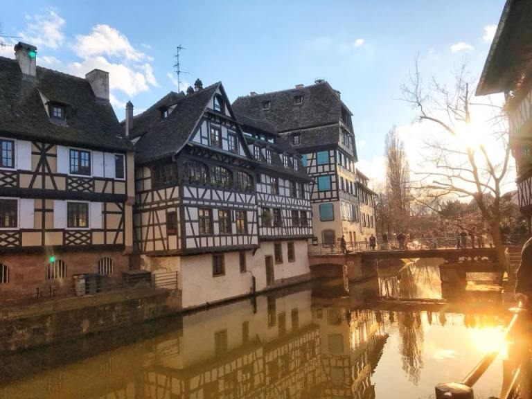 strasbourg with sun