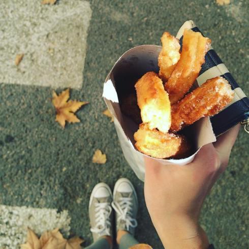 churros - eating in Cordoba, Spain
