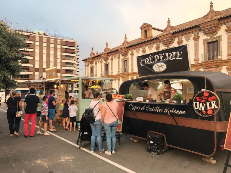 food trucks at Palacio de la Merced - things to do in Cordoba