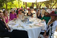 guests eating at a wedding in Spain