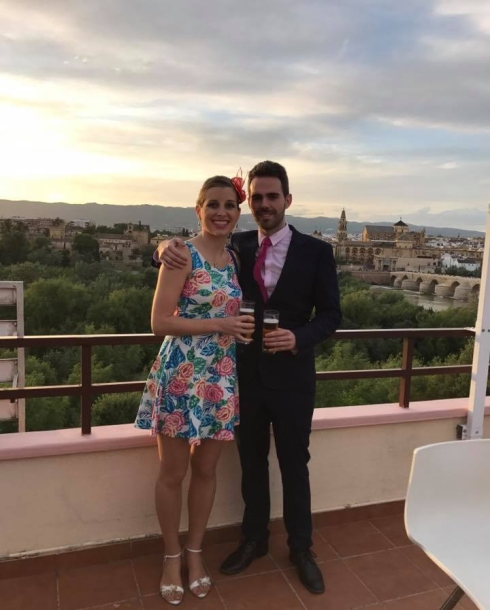 couple at a wedding in Spain
