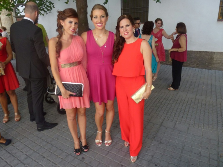 girls dressed up for a wedding in Spain