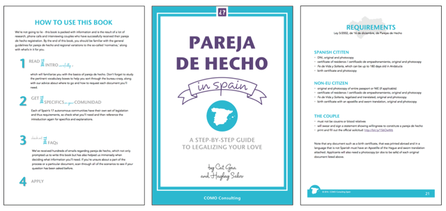 Preview of pages from Pareja de Hecho in Spain book