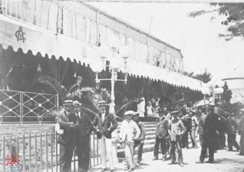 Tent belonging to the Real Círculo de la Amistad at the feria de Córdoba, 1920
