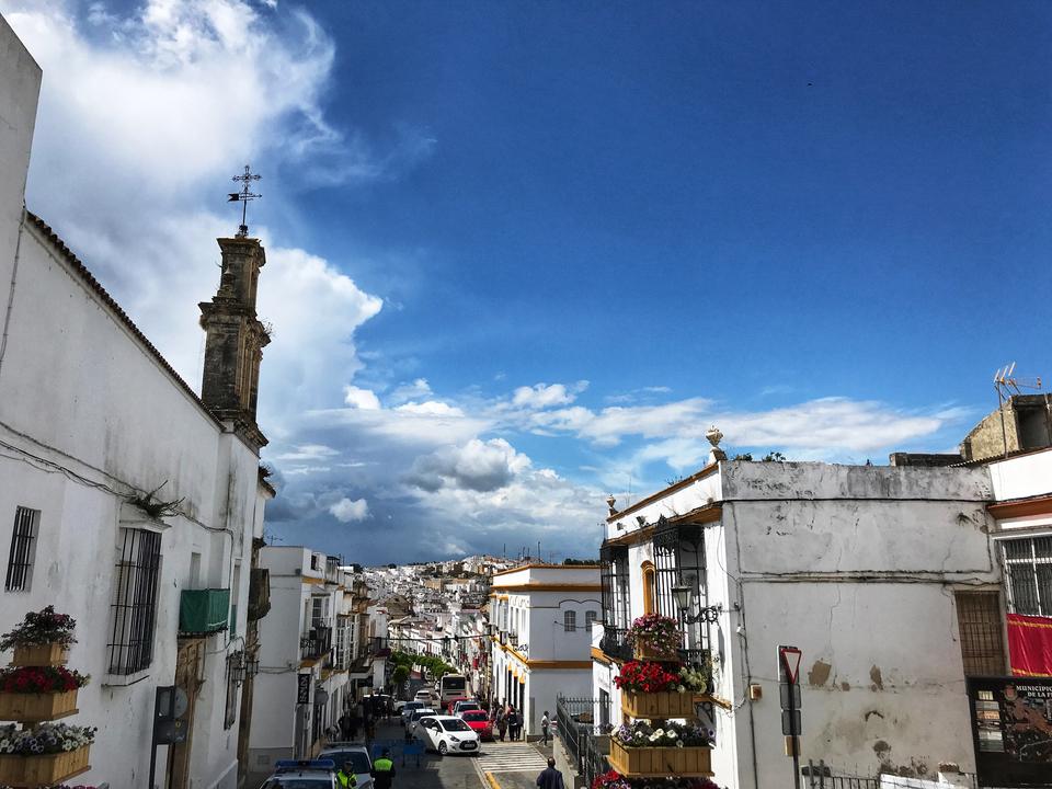 The streets of Arcos de la Frontera, Spain