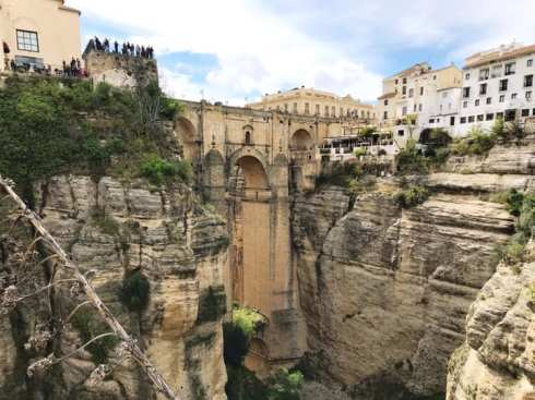The Puente Nuevo bridge in Ronda, one of the best white villages in Andalusia, Spain