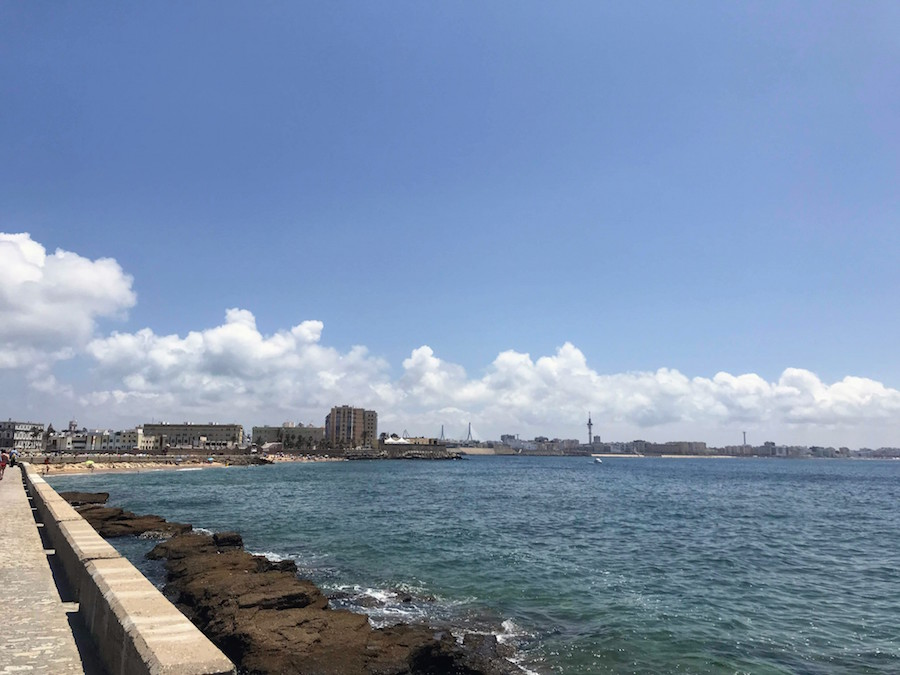 View from Paseo Fernando Quiñones in Cádiz, Spain