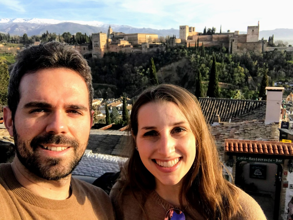 Mirador de San Nicolás viewpoint in Granada, Spain
