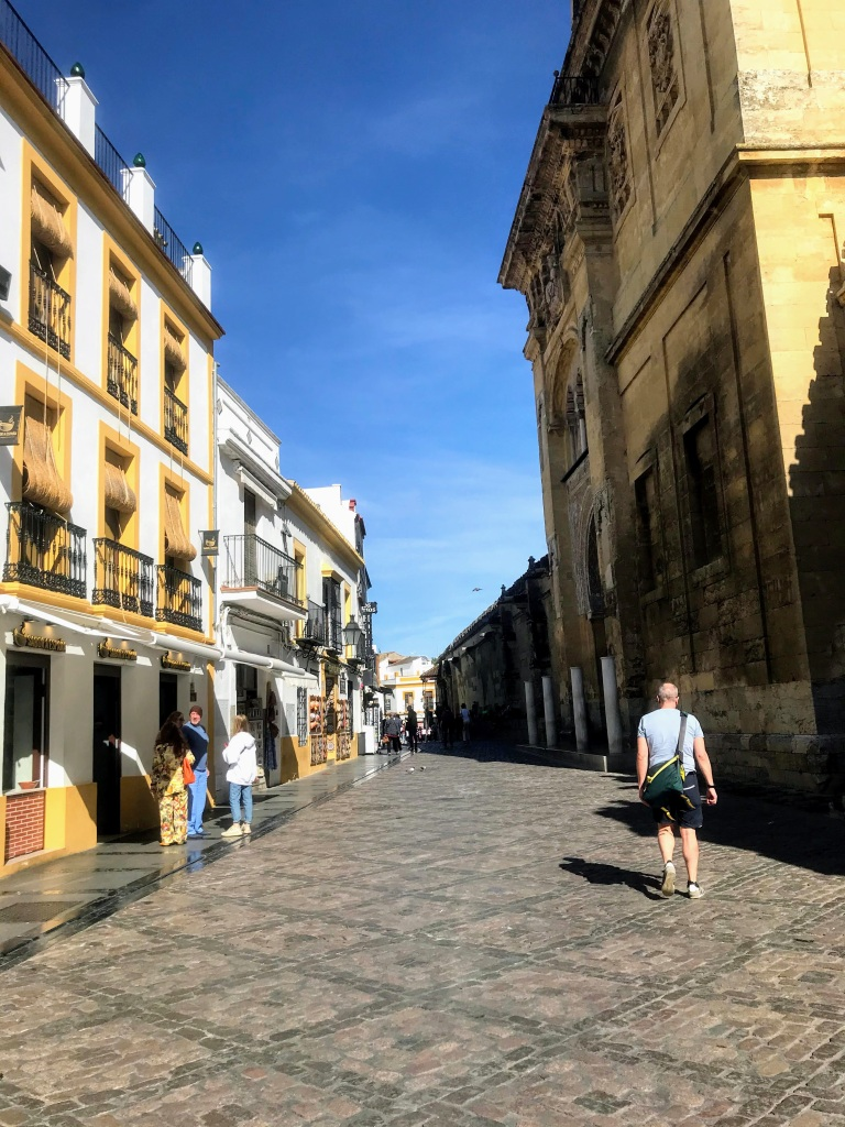 Empty streets near the Mezquita of Cordoba in Spain